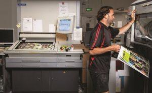 offset printing set up